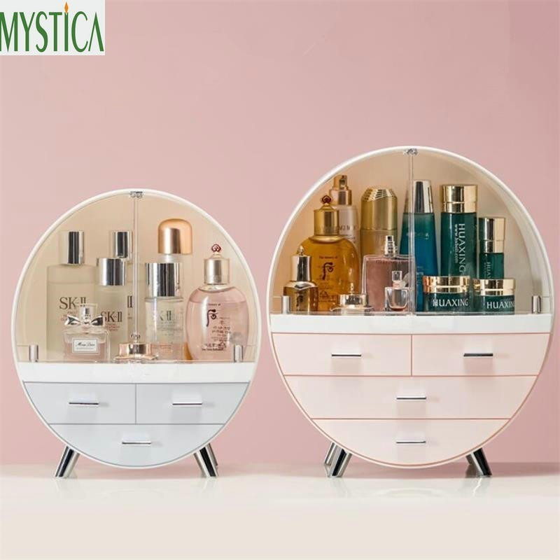 Home Fashion Drawer Makeup Storage Box Bathroom Brush Lipstick Holder Desktop Acrylic Jewelry Cosmetic Skin Care Organizer Rack