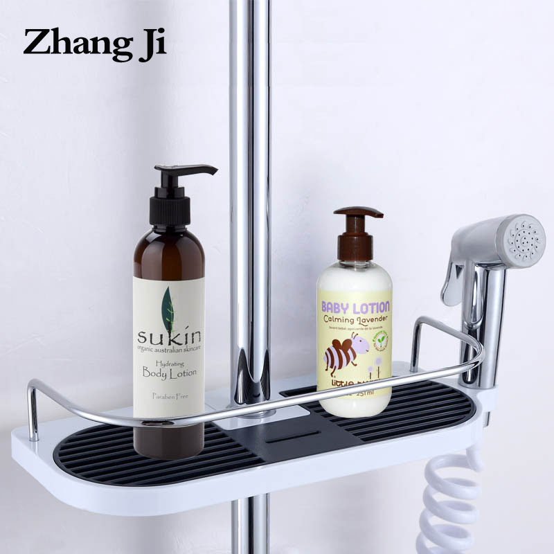 ᗐZhangji Bathroom Shelf Shower Storage Rack Holder Shampoo Bath ...