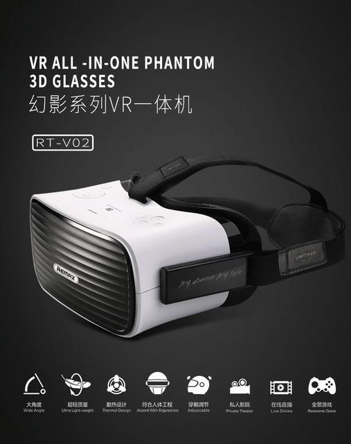 REMAX RT-V02 Гарнитура 3D VR Очки Ultra Light Очки Виртуальной Реальности Все В Одном 95 Градусов Visua Ангел
