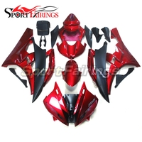 ABS Body Kit Complete Fairings For Yamaha YZF R6 2006 2007 YZF R6 06 07 Motorcycle Bodywork Cowlings Red Matte Black Fairing Kit