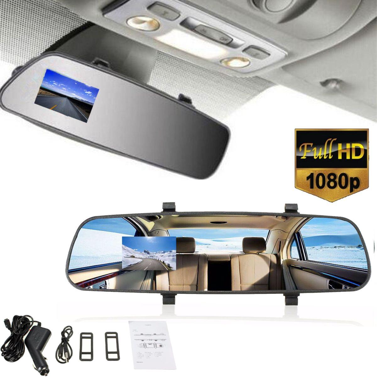 Auto HD 2,7 ''1080 p TFT Rückspiegel Dash Kamera DVR Cam Video Recorder Fahrzeug Rückansicht Kamera