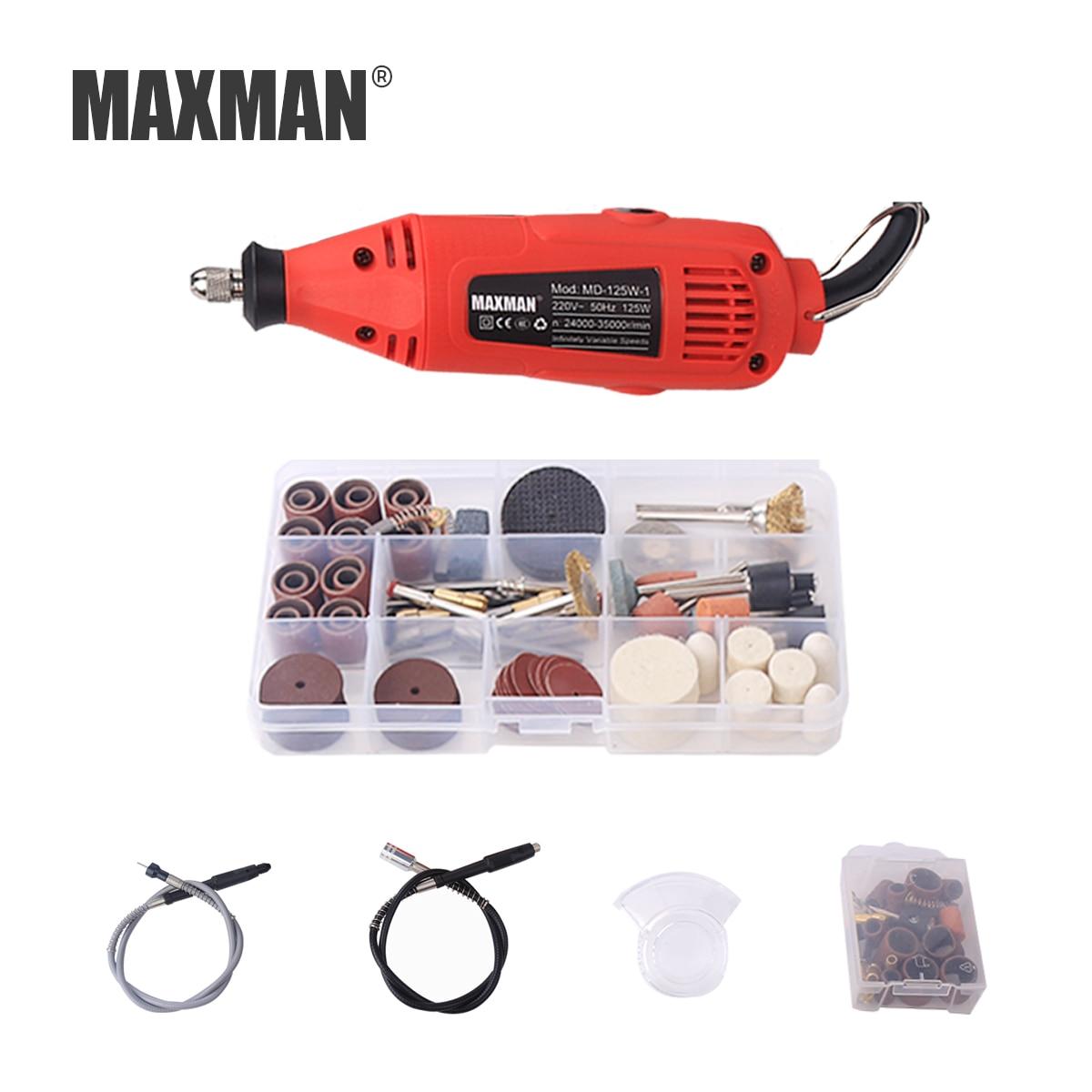 цена на MAXMAN Dremel 125W Engraving Pen Electric Drill DIY Drill Electric Rotary Tool grinder Mini Drill Mini-mill Grinding Machine