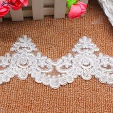 YACKALASI 5 metrów/dużo wspaniały ślub koronki biały suknia dla panny młodej Sashes aplikacja do szycia odzieży wykończenia 6.5 CM