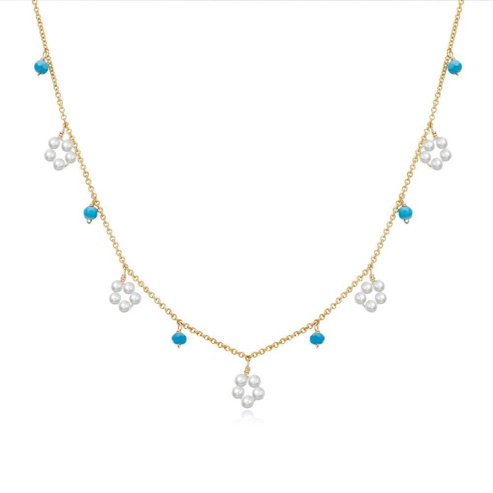 Collier de perles pour femmes collier de mode tempérament