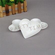 Heart Dish, Porcelain White Mini Heart Shape Dish, Serving Dish