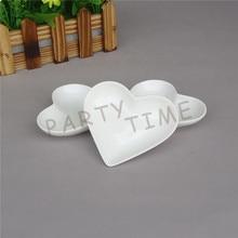 Herz Schüssel, Porzellan Weiß Mini Herz Form Teller, Teller