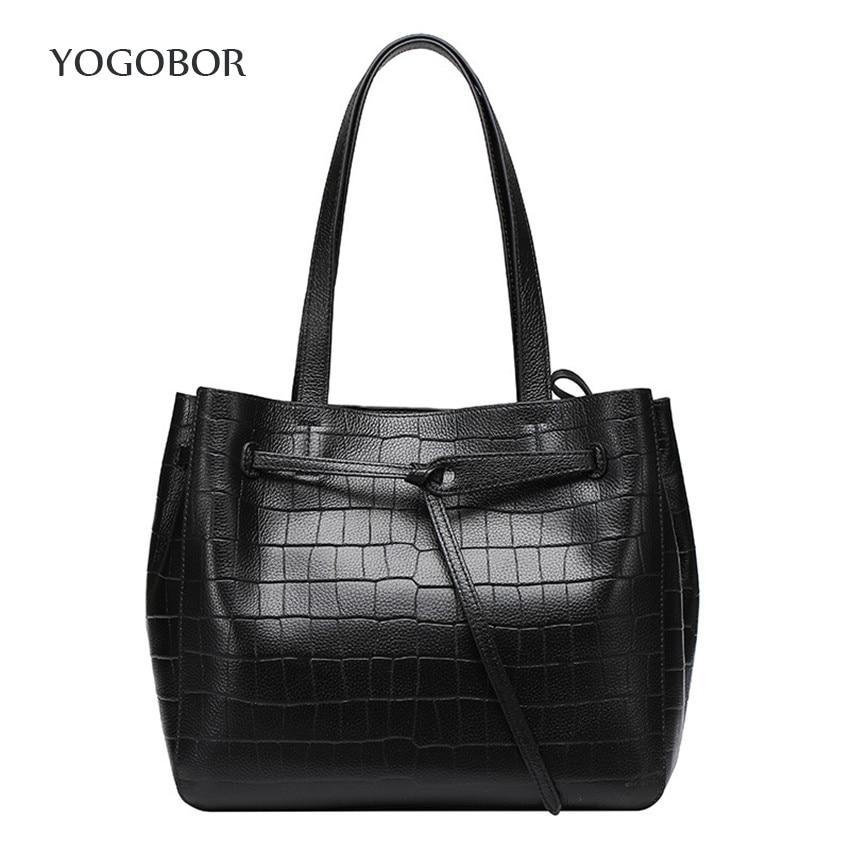 ФОТО 2017 New Bucket Bag Women Messenger Bags Sling Shoulder Bag String Casual Tote Genuine Leather Fashion Designer Female Handbag