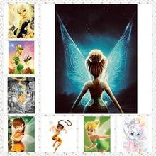 Diamond Embroidery 5D DIY Diamond Painting Cartoon Fairy Tinker bell Cross Stitch Full square/round Rhinestone Mosaic NEW1576