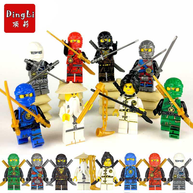 Ninja heróis ação brinquedo figura blocos de construção brinquedos educativos montados boneca ninjagoinglys 8 pçs/set