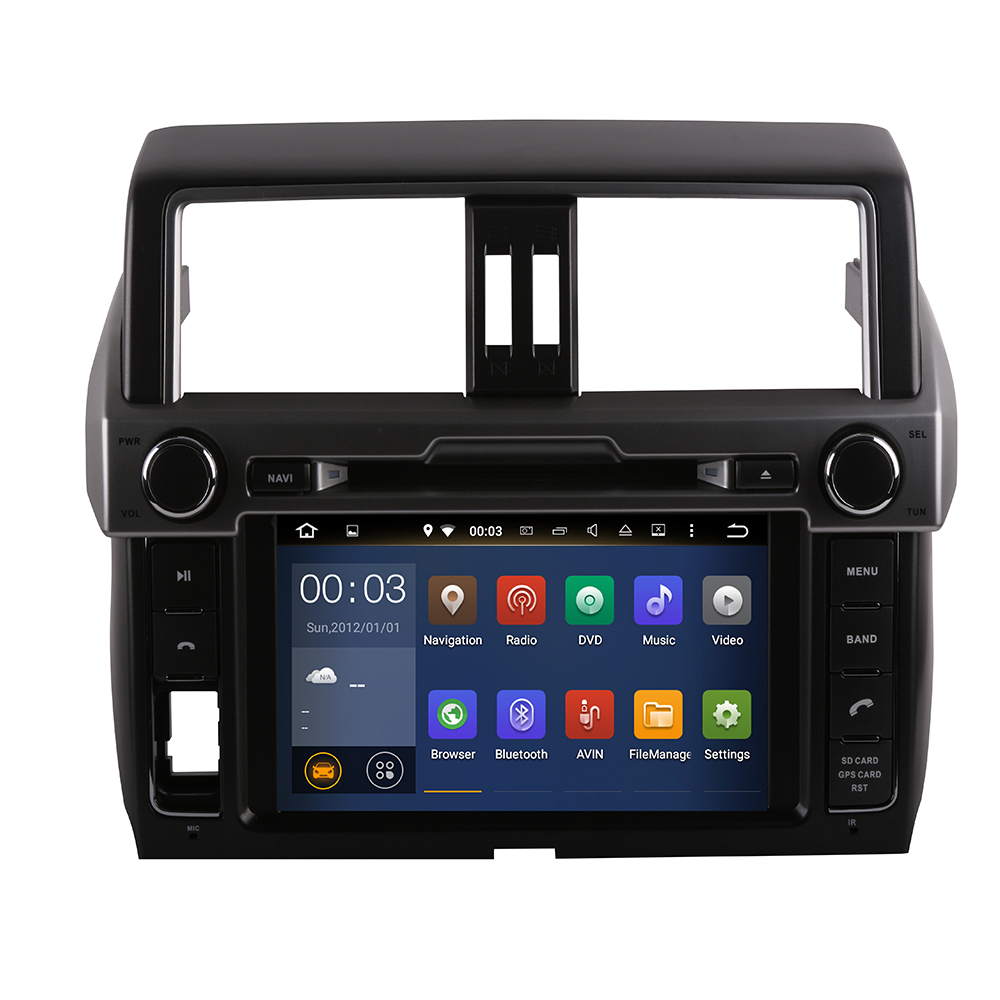 IPS 8 inch Android9.0 4G modem Car DVD for Toyota Prado 150 LC150 GPS 2014 2015 2016 2017+ Radio USB DVD image
