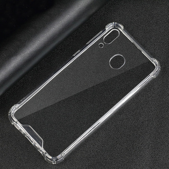 50pcs/lot.Fit Shockproof Clear Transparent PC Back TPU Bumper Scratch Protection Case Cover for Samsung galaxy M10/M20
