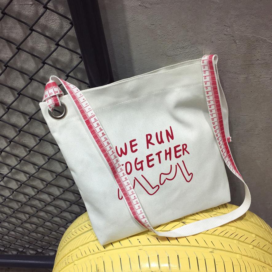 Для женщин модный принт правители Холст Crossbody сумки на плечо Для женщин Однотонная одежда пряжка сумки большой Ёмкость сумки # F