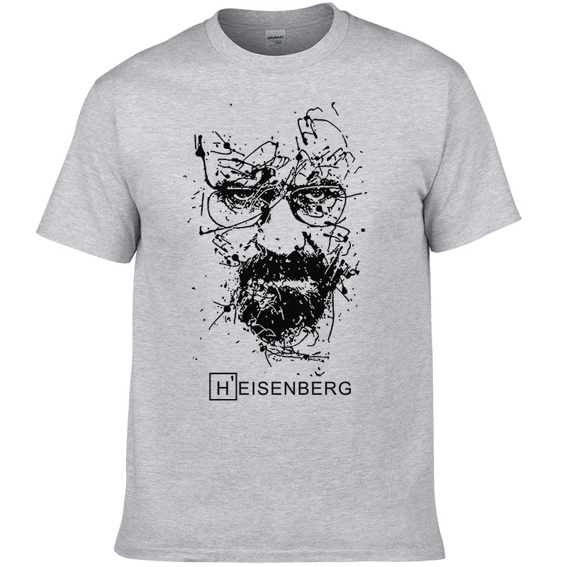 2018 New Fashion Breaking Bad   T     Shirts   Men Heisenberg Camisetas Hombre Mens Cool Tee   Shirt   Tops Short Sleeve Cotton   T  -  shirts