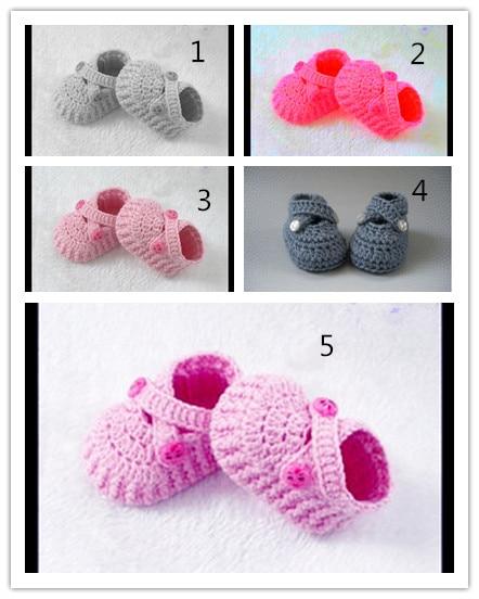 FASHION Håndlavede Crochet Booties Sko Baby Boy Newborn sko