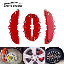 High quality ABS plastic truck 3D red utility car universal disc brake caliper cover front and rear automatic universal kit gas mini dirt bike rear front disc brake caliper kit 140mm rotors electric scooter atv