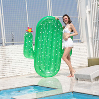 Rooxin Cactus Inflatable Pool Float Swimming Circle for Adult Floating Bed Air Mattress Swimming Ring Summer Beach Party Toys