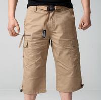 Shorts Da Carga dos homens Militar Tático Homem Na Altura Do Joelho de Verão Capris Casuais Masculinos Plus Size Curto Ashant w181