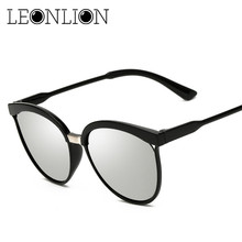 ФОТО leonlion 2018 classic brand designer cat eye sunglasses women luxury plastic sun glasses retro outdoor lunette de soleil femme
