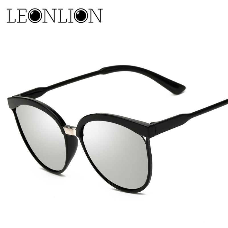 LeonLion 2018 Classique Marque Designer Cat Eye lunettes de Soleil Femmes  De Luxe En Plastique Lunettes de Soleil Rétro Extérieur Lunette De Soleil  Femme 4ca85857f561