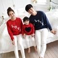 Familia ropa a juego trajes Amor Camiseta de Algodón de Manga Larga Familia Mirada de la Muchacha y de La Madre Ropa Fábrica TZ16