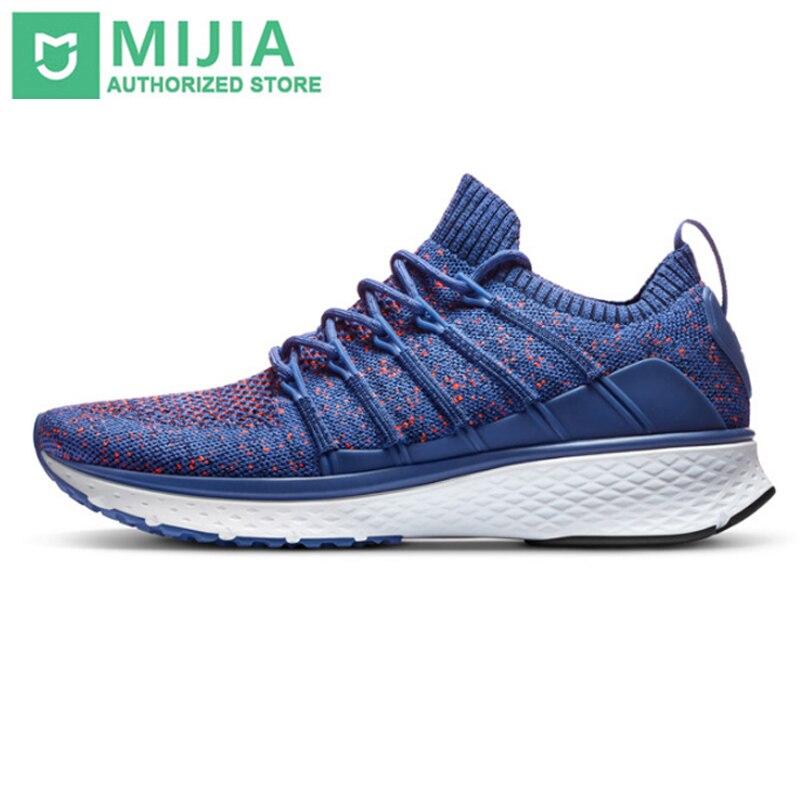 Xiaomi Original Mijia Sneaker 2 chaussures de course de sport respirant système de verrouillage de l'os de poisson élastique tricot Vamp pas de puce samrt à l'extérieur