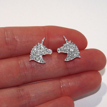 Charming Crystal Unicorn Earrings
