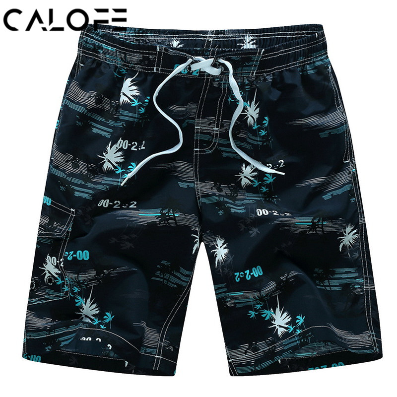 CALOFE Shorts Trunks Surfing Beach Bathing-Suits Swimming Boxer Board Summer Quick-Dry