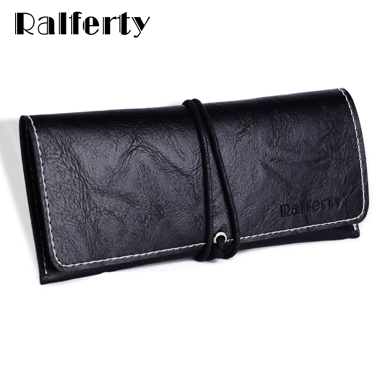 Ralferty PU Leather Sunglasses Pouch, Black Brand Glasses Box Quality Spectacles Cases Glasses Eyewear Accessories