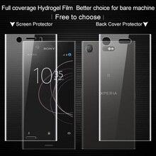 Imak СПС sony XZ1 компактный Экран Full Cover гидрогель II Защитная пленка для sony Xperia XZ1 Compact/мини не стекло