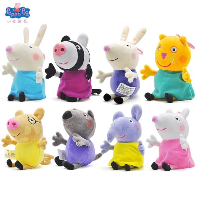 Us 6 97 39 Off Original Peppa Pig Plush Toys Peppa George Friends Richard Rabbit Susy Sheep Zoe Zebra Danny Dog Edmond Elephant Plush Toy Gift In