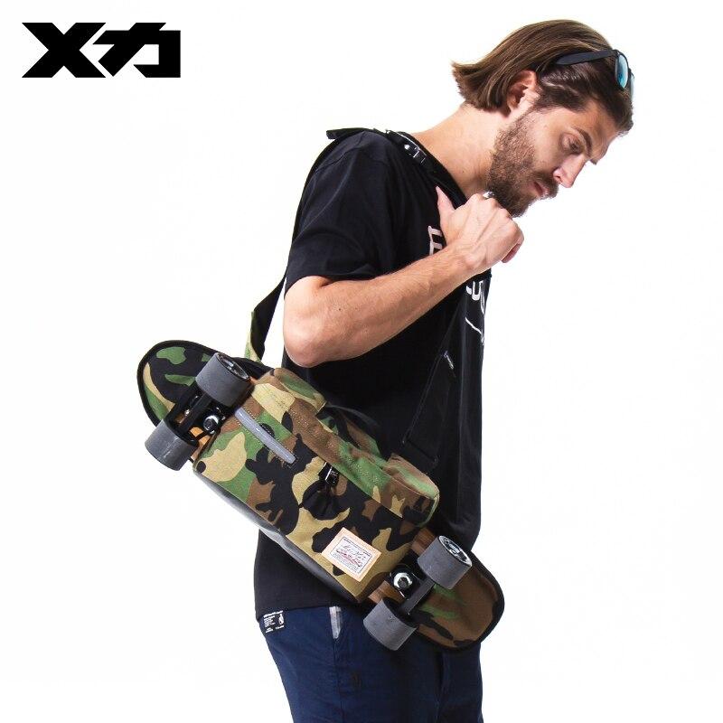Hombre mujer uso Skateboard bolso de un solo hombro peces pequeños de mochila bolsa de mosca muerta bolsa para placa de doble balancín