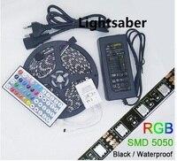 Black PCB 5050 LED Strip DC12V IP65 Waterproof 60LED M 5m Lot 44 KEY 12V 5A