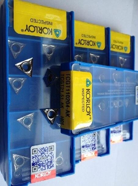 10pcs set carbide inserts TCGT110204 AK TCGT110202 AK h01 2 aluminum with high degree of finish