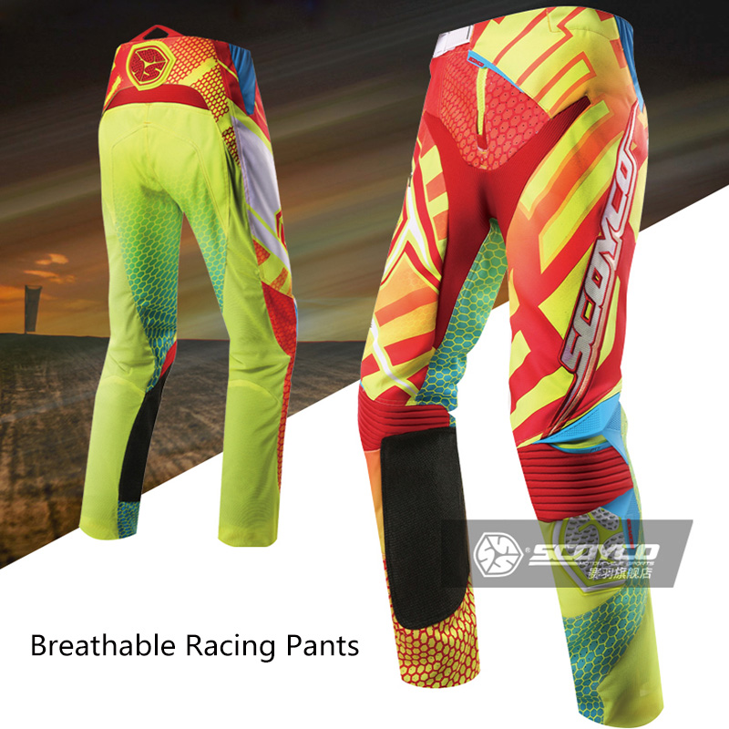 SCOYCO Motorcycle Offroad Racing Pants Cross-country Race Pants Moisture Sweat Breathable Riding Pants Male Motocross Long Pants scoyco professional motorcycle dirt bike mtb dh mx riding trousers motocross off road racing hip pads pants breathable clothing