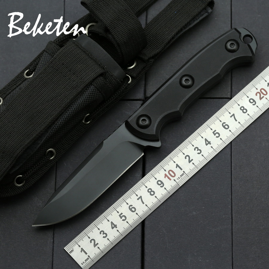BEKETEN ZT outdoor Fixed <font><b>knife</b></font> 9Cr13Mov blade G10 camping tools hunting <font><b>wilderness</b></font> survival tactics portable Collection <font><b>knives</b></font> image