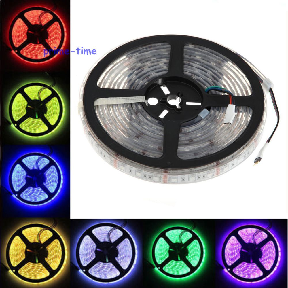 IP68 Waterproof 5050 LED Strip,12V 60LED/M 5M flexible Strip,White Warm White RGB,Underwater Use for Swimming Pool,Fish Tank