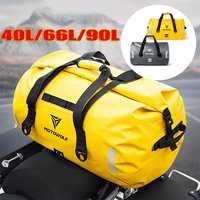 90L/66L/40L Motorcycle Saddle bags Waterproof Tail Bag Multi functional Motorcycle Seat Bag High Capacity Moto Rider Backpack