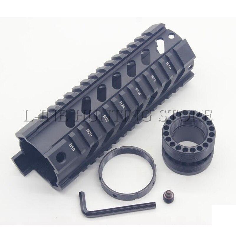 Black Sand Metal AK Rifle Hunting Accessories Tactical Airsoft M4 M16 AR15 Handguard .223/5.56 Carbine Length Quad Rail System