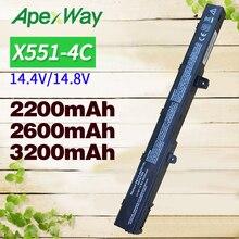laptop battery for Asus A41N1308 A31N1319 X451C X451M X551C X551CA X551M A31LJ91 X451CA X451 X551 0B110-00250100 цены онлайн