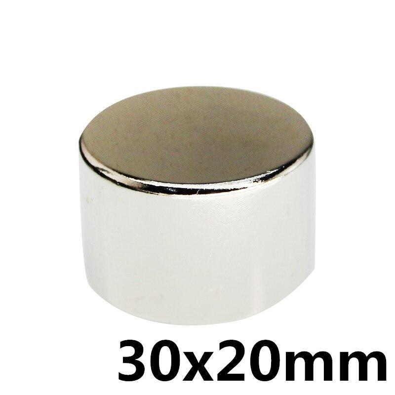 1 stücke 30*20mm super leistungsstarke Dia 30mm x 20mm neodym magnet 30x20 disc magnet rare earth NdFeB N35 magneten