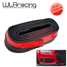 2.5M Car Bumper Lip Stickers Car Front Bumper Lip Rubber Car Bumper Protectors Exterior Mouldings Bumper Lip Strip 65mm Width car front lip bumper refitting general small enclosure front bumper carbon fiber automotive products front lip adhesive strip