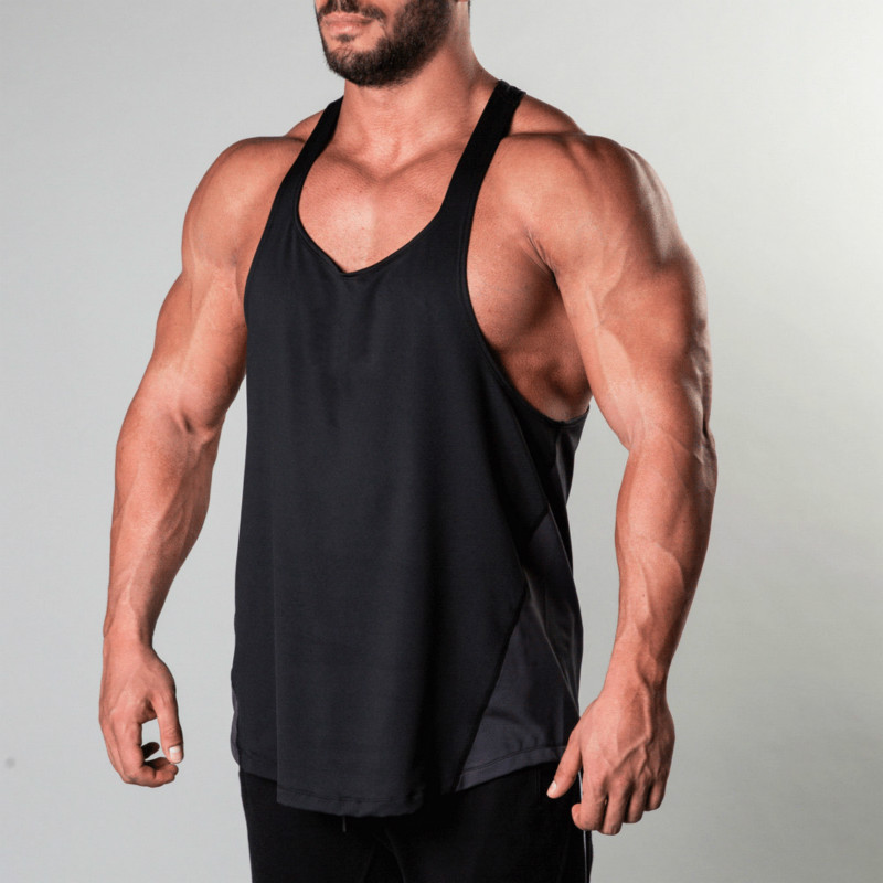 Men/'s Sleeveless Vests Cotton tank top summer training Gym Sport Vest M-3XL