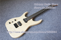 Nature Wood Left Handed Suneye Electric Guitar With Black Tremolo and Hardware Free Shipping LP SG ES Guitar Custom Available