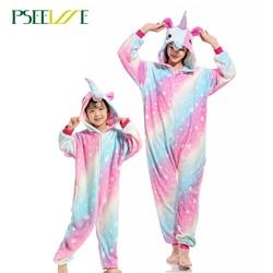 طقم بيجامات نسائية ناعمة مريحة من PSEEWE يونيكورن ملابس نوم مناسبه للجنسين ملابس منزلية للبنات/الأولاد/ملابس نوم للكبار