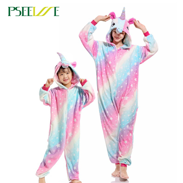 PSEEWE licorne Femmes Doux pyjama confortable Ensemble Vêtements De Nuit de Détente Pyjamas Unisexe Homewear Pour fille/garçons/vêtements de Nuit Pour Adultes