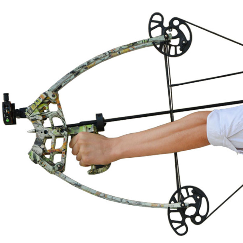 50lbs triangle compound bow hunting shooting compound bow camo color outdoor arco de poleas de. Black Bedroom Furniture Sets. Home Design Ideas