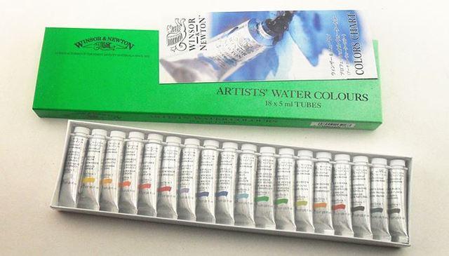 4b4e26b04b88 Winsor Newton Watercolor Paint Set Artists  Water Colours 18 Colors 24  Colors Portable 5ml TUBES