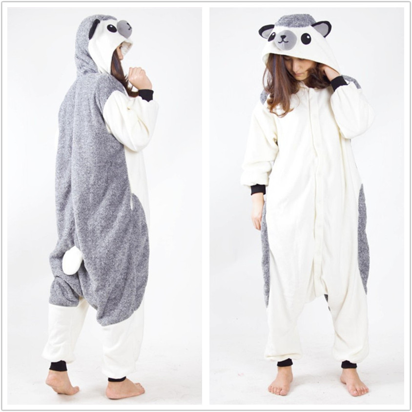 Animal Hedgehog Onesie Vuxna Män och Kvinnor Halloween Julkarnival Party Fleece Unisex Cosplay Kostymer Jumpsuit