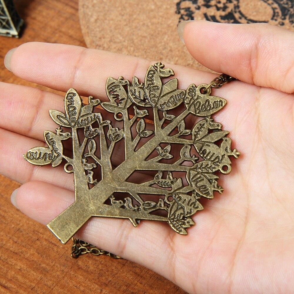 fashion Jewelry Retro long Sweater Chain letter Necklace Bird Christmas Tree big Pendants women girl gift