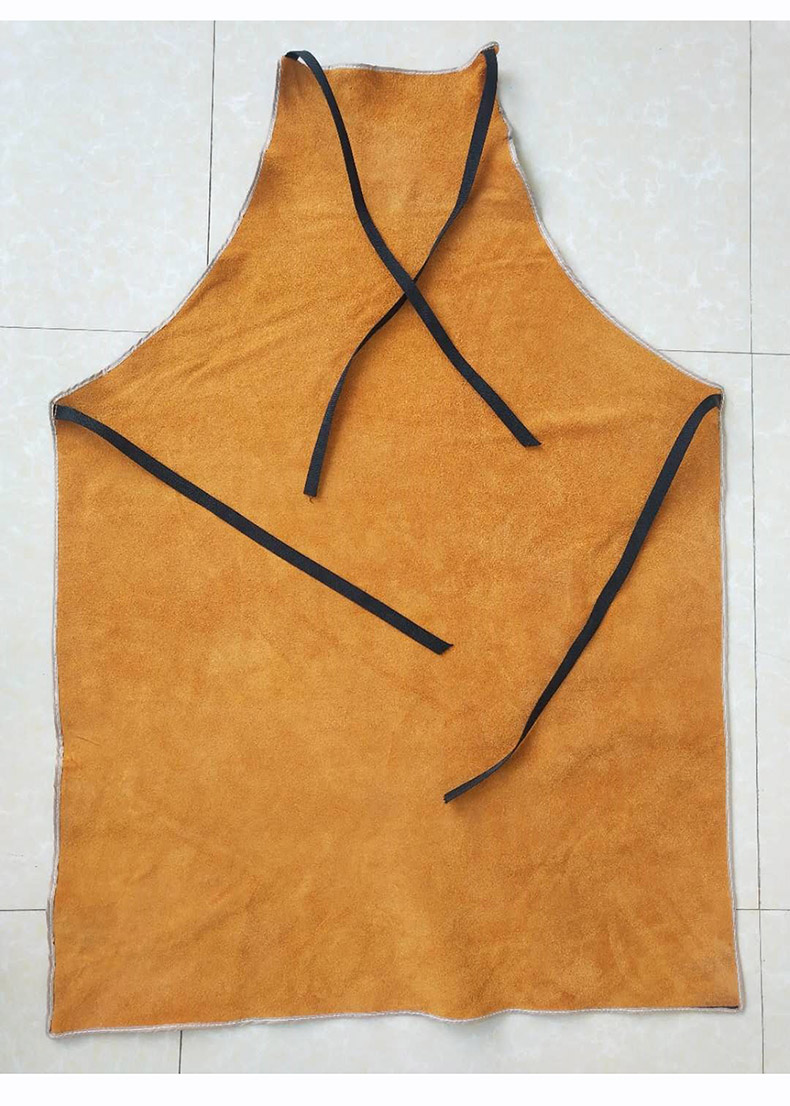 Welding Apron Heat Insulation A Whole Piece of Cow Leather Protective Aprons Flame Resistant Welders Workplace Safety Clothing (11)